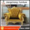 Cadeira do sofá do assento do sofá 1 da antiguidade italiana do couro do vintage única