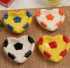 Het ceramische Asbakje van de Voetbal met het Ontwerp van de Voetbal voor de Gift van de Herinnering van de Sport