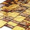 Tuile de mosaïque en verre de modèle de main de coupure de mur en cristal neuf d'or