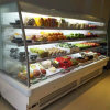 Réfrigérateur commercial de refroidisseur ouvert d'étalage de verticale pour le supermarché