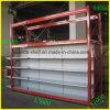 Шкаф полки супермаркета верхнего сегмента для индикации и хранения