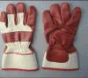 Красным ладонь прокатанная нитрилом полная Glove-5406