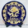 Piatto blu del piatto del piatto del drago della scrofa giovane nove di Lacquerware (TSP-12B)
