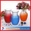 Diversos tipos florero de cristal coloreado