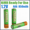 Baterías recargables AAA 850mAh de NiMH de la tarifa baja de la descarga