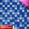 mattonelle di mosaico blu di cristallo della miscela della piscina di 23*23*4mm