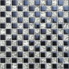 居間のタイルのための電流を通された白くおよび黒いガラスモザイク