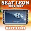 좌석 Leon W2-D9235V를 위한 Witson 차 DVD 항법