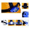 Farol de pouco peso do diodo emissor de luz 1W do estilo do capacete com o diodo emissor de luz do verso e a caixa de bateria pequenos da trouxa