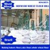 Farinha de trigo do serviço da instalação que faz a maquinaria
