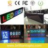 P10 LED a todo color de interior que hace publicidad de la muestra del movimiento en sentido vertical del LED