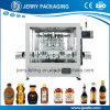 Alimentación automática de pistón miel embotellado Botella Pega relleno de líquido de la máquina