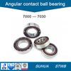 7000 tipo rodamiento de bolitas angular del contacto fila métrica de la talla de la sola