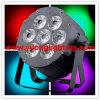 O mini disco DJ do estágio do alumínio 7X18W Rgabwuv ilumina-se