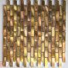 Luxuxart-goldene Aluminiummetallmosaik-Fliese für Wand (FYL126)