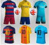 Le football de kit du football de Barcelone Messi vêtx des uniformes de sport d'enfants