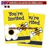 Convites do partido de chuveiro do bebê do aniversário mais os envelopes (BO-5318)