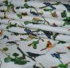 Tissu imprimé en polyester pour vêtements en rideaux de lit