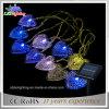 휴일 가벼운 LED 태양 끈 빛 LED 크리스마스 훈장 빛 심혼 모양 끈 빛