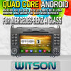 벤즈를 위한 Witson S160 Car DVD GPS Player Rk3188 Quad Core HD 1024X600 Screen 16GB Flash 1080P WiFi 3G Front DVR DVB-T 미러 Link (W2-M068)를 가진 Class