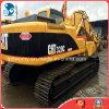 Máquina escavadora usada do gato 320c, máquina escavadora usada da lagarta com A/C
