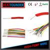 Cable de la base del alambre eléctrico del caucho de silicón de Awm UL3350 solo