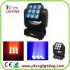 Luz principal móvil de la colada LED de la viga de la matriz 3X3X12W