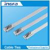Freier unbeschichteter Kugel-Typ Metallkabelbinder der BeispielSs304