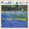 Suelo al aire libre cómodo y de la alta calidad del Spu del campo de tenis