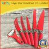 A faca de cozinha por atacado do aço inoxidável 6PCS da série da faca ajustou-se (RYST0134C)