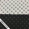 Tissu blanc/noir de lacet de coton de modèle de cavité de couleur pour la robe