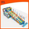 Cour de jeu d'intérieur de rouleau de glissière de structure colorée de jeu