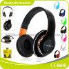 Klassischer schwarzer leistungsfähiger faltbarer Bluetooth Kopfhörer