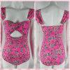 Misser Adola Af:drukken van de Bloem van Lovely het Ééndelige Swimwear van Meisjes Roze (YD14101005AOP)