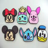 PVC Rubber Key Cap do animal 3D em Different Shapes