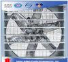 Gaiola automática da galinha com ventilador de ventilação