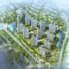 Вид с воздуха зодчества проекта сотрудничества Кореи