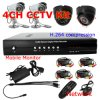 4 CH H. 264 DVR y CCTV Surveillance Kits (DH3004KPB) de Day/Night Camera