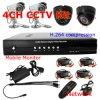 4 CH H. 264 DVR und Day/Night Camera CCTV Surveillance Kits (DH3004KPB)