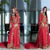 Red árabe A - linha Applique New Bridal Gowns Wedding Dresses Z9010