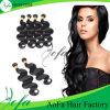 A alta qualidade 100% acena frouxamente a trama brasileira humana do cabelo