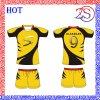 Les femmes court- le rugby Jersey de sublimation de chemise