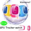 Relógio elegante dos miúdos do GPS com ranhura para cartão de SIM (D14)