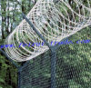 Chain Link Fence avec Top Razor Barbed Wire (FR-4)
