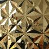 Strato materiale decorativo del comitato dell'acciaio inossidabile del bollo di colore dell'oro della parete dell'hotel del randello