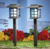 Indicatori luminosi solari del palo della lanterna del giardino, bianco caldo LED