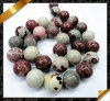 Fashion Jewelry, Picture To marble Flower Beads To marble Jewelry (GB086)