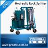 Machine de cylindre de division en pierre hydraulique sur la carrière
