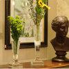 Métier européen noble de vase à fleur de verre cristal
