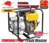 3 인치 휴대용 진창 슬러리 진흙 하수도 더러운 물 이동 디젤 엔진 동력 펌프